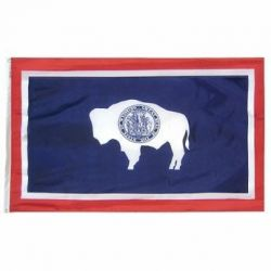 Nylon Wyoming State Flag - 3 ft X 5 ft