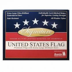 Gift Boxed Signature Series Embroidered US Flag - 3 ft X 5 ft