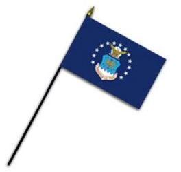 Air Force Stick Flag - 4 in X 6 in