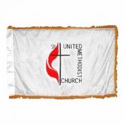 4' X 6' Indoor/Parade Methodist Flag - Fringed or Unfringed