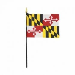Maryland Stick Flags - 4 in X 6 in