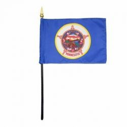 Minnesota Stick Flags - 4 in X 6 in