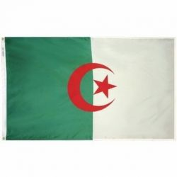 Nylon Algeria Flag - 4 ft X 6 ft