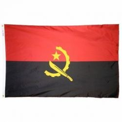 Nylon Angola Flag - 4 ft X 6 ft