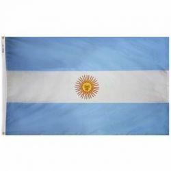 Nylon Argentina Flag - 4 ft X 6 ft