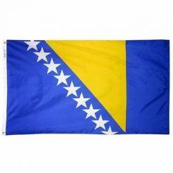 Nylon Bosnia-Herzegovina Flag - 4 ft X 6 ft