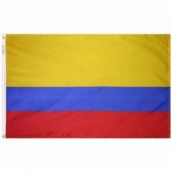 Nylon Colombia Flag - 4 ft X 6 ft