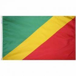 Nylon Congo Flag - 4 ft X 6 ft