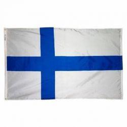Nylon Finland Flag - 4 ft X 6 ft