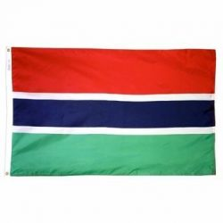 Nylon Gambia Flag - 4 ft X 6 ft