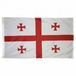 Nylon Georgia Flag - 4 ft X 6 ft