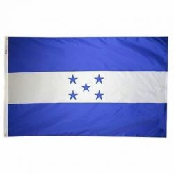 Nylon Honduras Flag - 4 ft X 6 ft