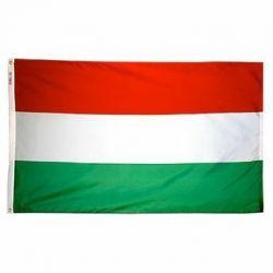 Nylon Hungary Flag - 4 ft X 6 ft