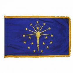 4' X 6' Nylon Indoor/Parade Indiana State Flag