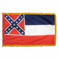 Nylon Indoor/Parade 1894 Mississippi State Flag - 4 ft X 6 ft
