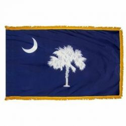 4' X 6' Nylon Indoor/Parade South Carolina State Flag