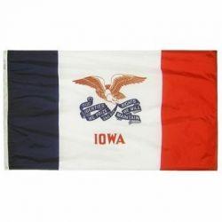 Nylon Iowa State Flag - 4 ft X 6 ft