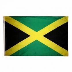 Nylon Jamaica Flag - 4 ft X 6 ft