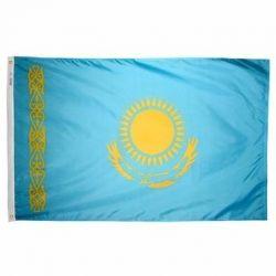 Nylon Kazakhstan Flag - 4 ft X 6 ft