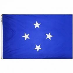 Nylon Micronesia Flag - 4 ft X 6 ft