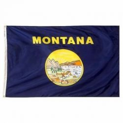 Nylon Montana State Flag - 4 ft X 6 ft