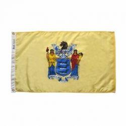 Nylon New Jersey State Flag - 4 ft X 6 ft