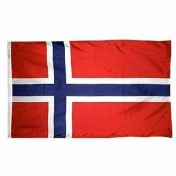 Nylon Norway Flag - 4 ft X 6 ft
