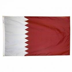 Nylon Qatar Flag - 4 ft X 6 ft