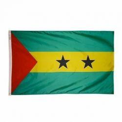 Nylon Sao Tome & Principe Flag - 4 ft X 6 ft
