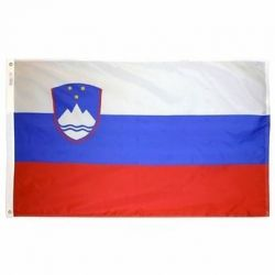 Nylon Slovenia Flag - 4 ft X 6 ft
