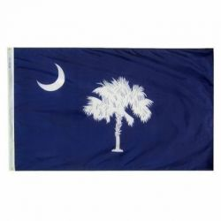 Nylon South Carolina State Flag - 4 ft X 6 ft