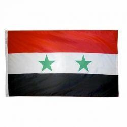 Nylon Syria Flag - 4 ft X 6 ft