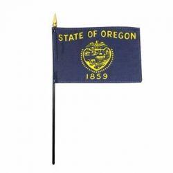 Oregon Stick Flags - 4 in X 6 in