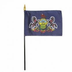 Pennsylvania Stick Flags - 4 in X 6 in