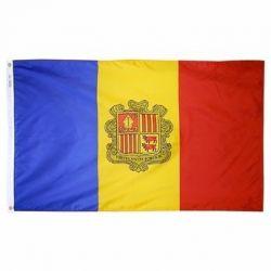 Nylon Andorra Flag - 5 ft X 8 ft