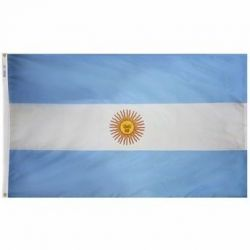 Nylon Argentina Flag - 5 ft X 8 ft