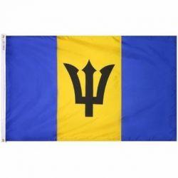 Nylon Barbados Flag - 5 ft X 8 ft