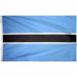 Nylon Botswana Flag - 5 ft X 8 ft