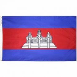 Nylon Cambodia Flag - 5 ft X 8 ft