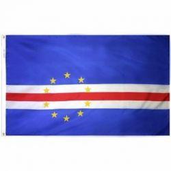 Nylon Cape Verde Flag - 5 ft X 8 ft
