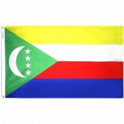 Nylon Comoros Flag - 5 ft X 8 ft
