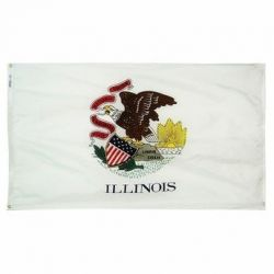 Nylon Illinois State Flag - 5 ft X 8 ft