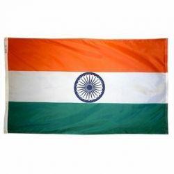 Nylon India Flag - 5 ft X 8 ft
