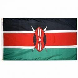 Nylon Kenya Flag - 5 ft X 8 ft