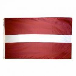 Nylon Latvia Flag - 5 ft X 8 ft