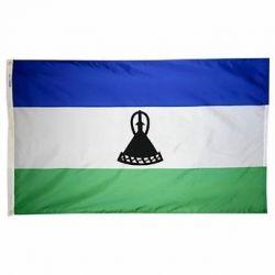 Nylon Lesotho Flag - 5 ft X 8 ft