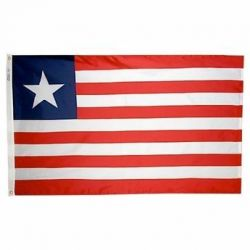 Nylon Liberia Flag - 5 ft X 8 ft