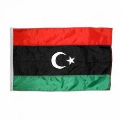 Nylon Libya Flag - 5 ft X 8 ft