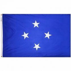 Nylon Micronesia Flag - 5 ft X 8 ft