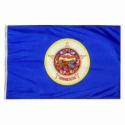 Nylon Minnesota State Flag - 5 ft X 8 ft